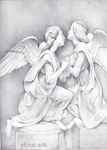 213x300 Angel Statue Drawings Fine Art America