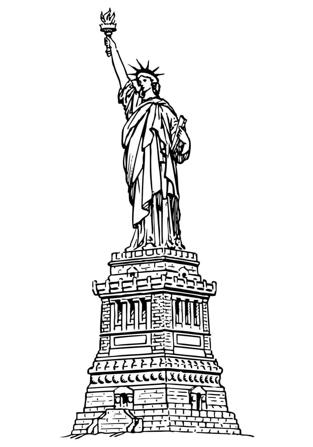 1062x1517 Statue Of Liberty Drawing Template Write Happy Ending
