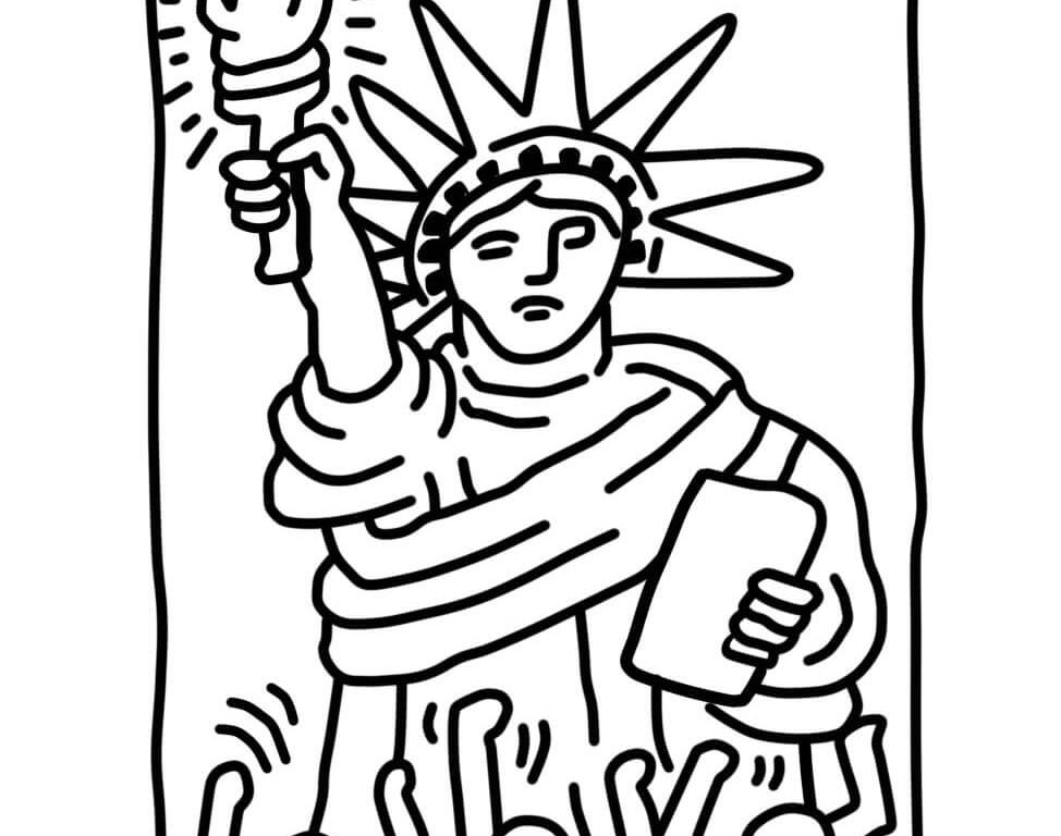 974x768 Statue Of Liberty Ringing In New Year Coloring Page Free Pages