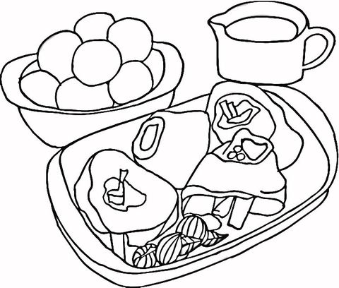 480x408 Steak With Potatoes Coloring Page Free Printable Coloring Pages