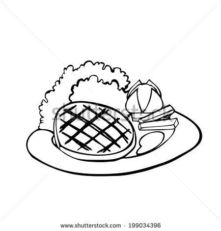 450x470 Drawn Steak Plate