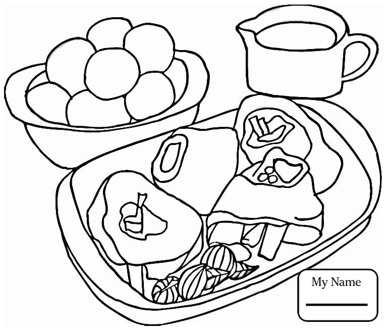765x651 Coloring Pages For Kids Home Housework Steak With Potatoes Meat