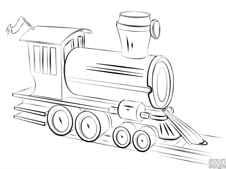 770x575 How To Draw A Steam Train Step By Step Drawing Tutorials
