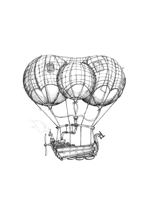 600x848 Steam Airship Drawings Available As Limited Edition Prints Aaron