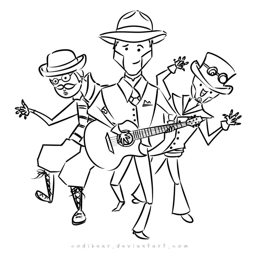 894x894 Steam Powered Giraffe Robut Coloring Page By Codibear