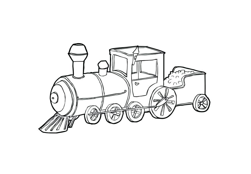872x605 Steam Train Coloring Pages Plus Train On A Curve Coloring Page