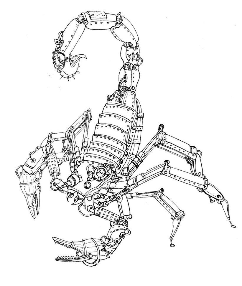 821x972 Steam Powered Scorpion By Chihuahuasinthemist
