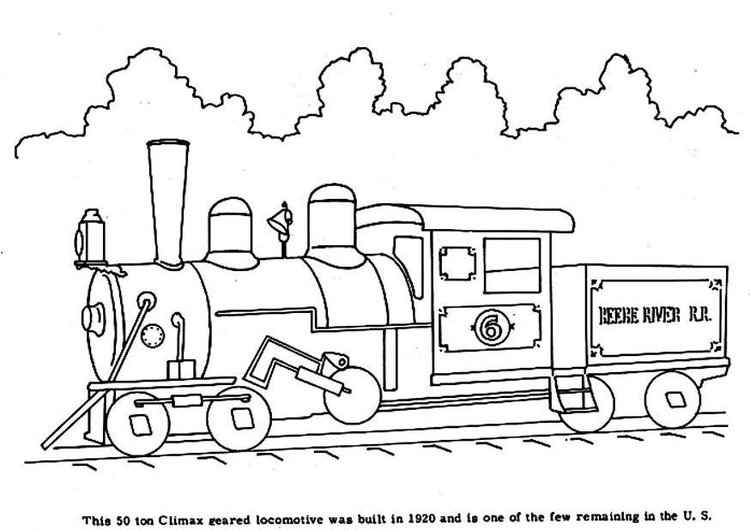 750x530 Coloring Page Steam Locomotive