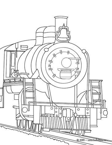 364x470 Old Steam Locomotive Engine Coloring Pages