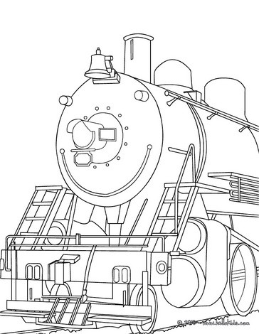 364x470 Old Steam Locomotive Front View Coloring Pages