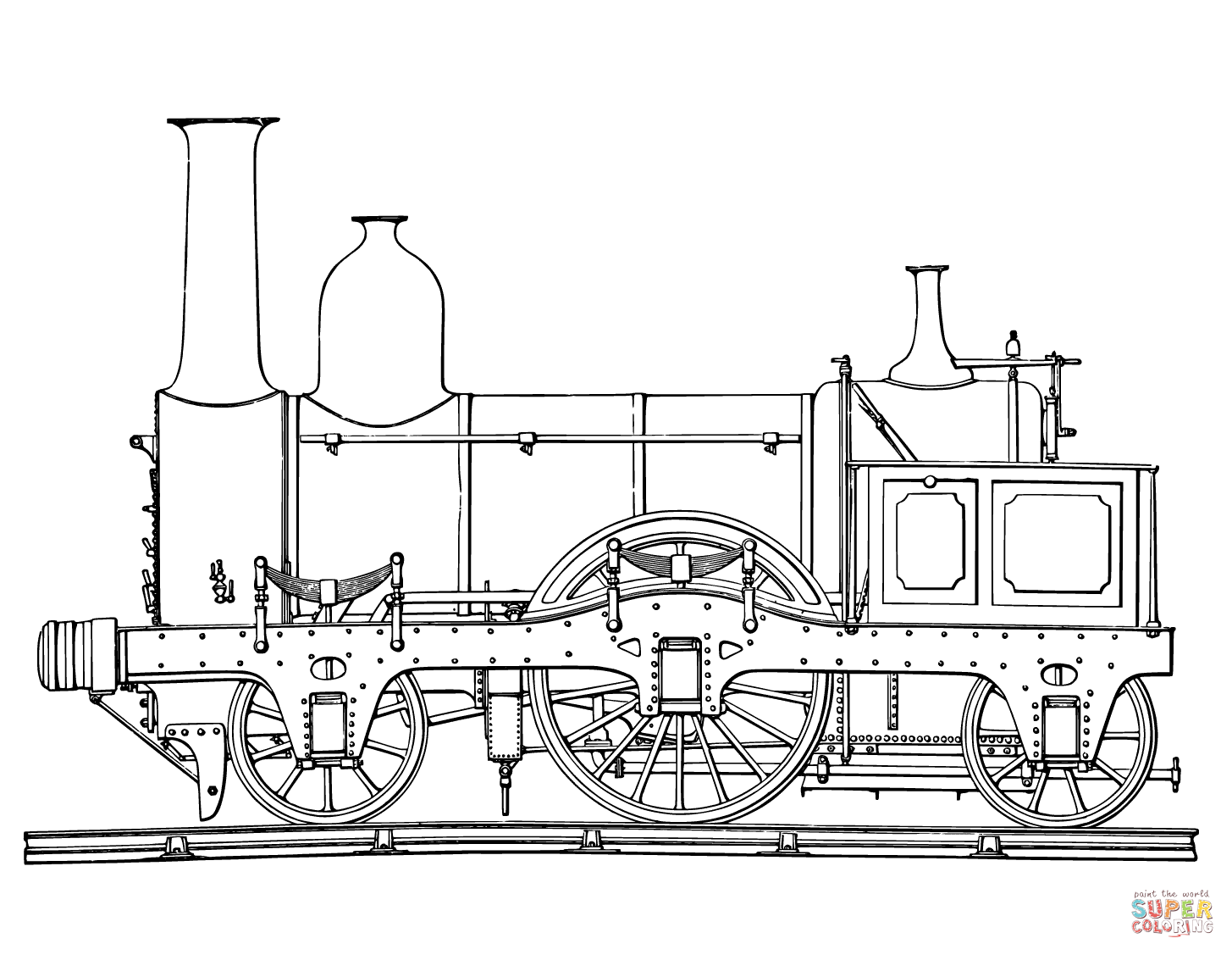 Steam Engine Drawing At Free For Personal Use Combustion Diagram Printable 1455x1127 Train Coloring Pages