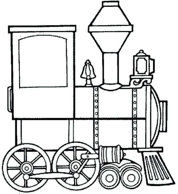 600x655 Steam Train Coloring Pages
