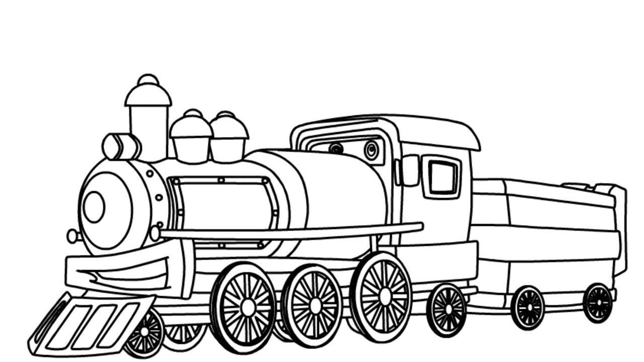 1280x720 How To Draw A Train Coloring Pages For Kids Teach Drawing Learn