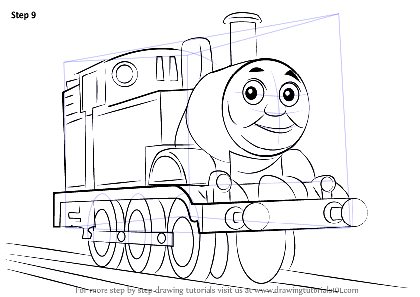 844x598 Learn How To Draw Thomas The Tank Engine (Thomas Amp Friends) Step