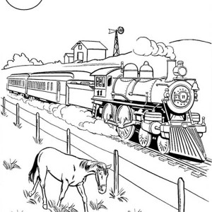 300x300 Steam Train Coloring Pages