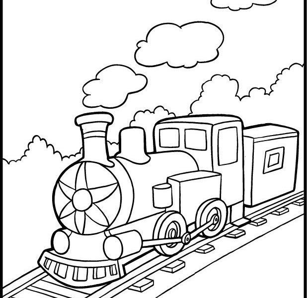 618x600 Train Colouring Page Coloring Pages