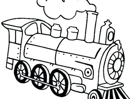 440x330 Train Engine Coloring Page Locomotive Coloring Pages Train
