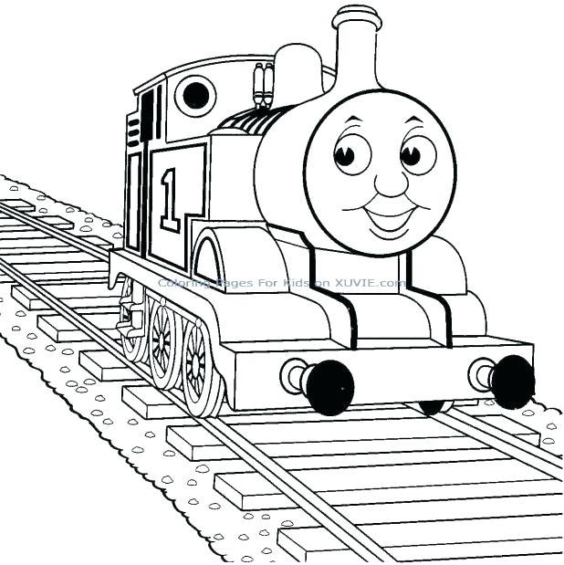 618x619 Train Engine Coloring Page Railroad Steam Engine Train On Railroad