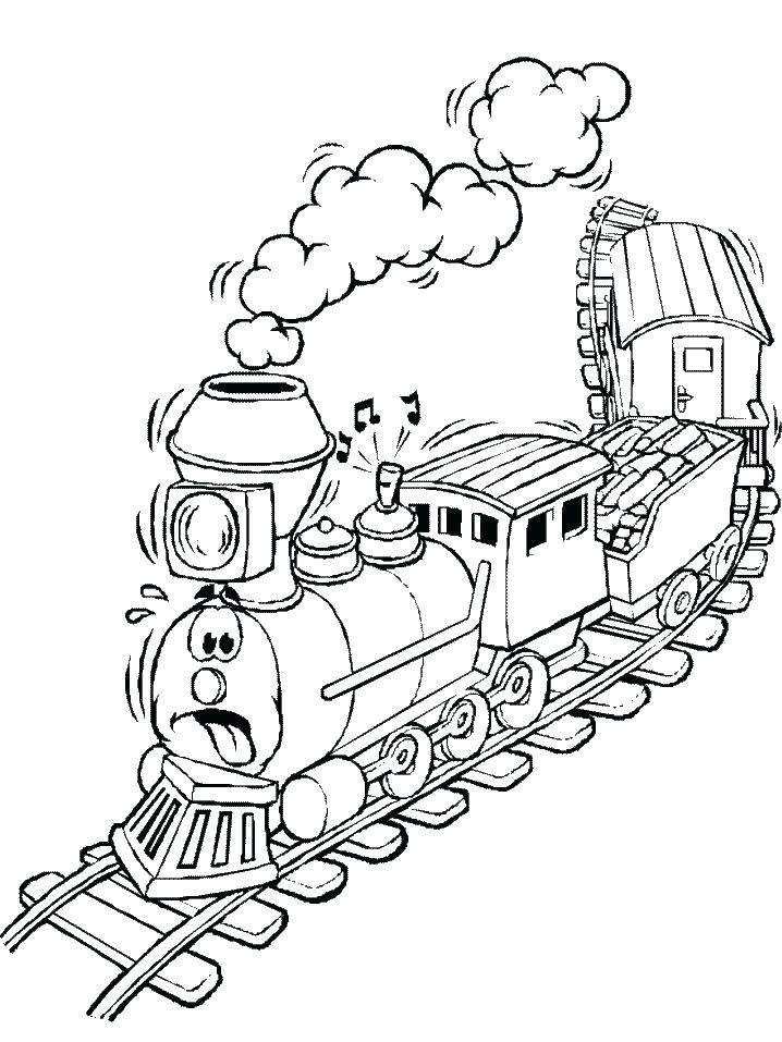 718x957 Trains Coloring Pages Train Coloring Page Steam Engine Train