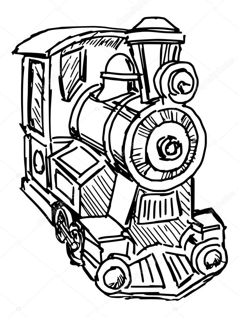 768x1024 Steam Engine Train Stock Vector Perysty