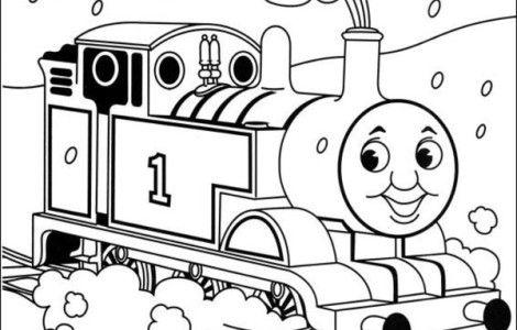 470x300 Drawn Train Printable