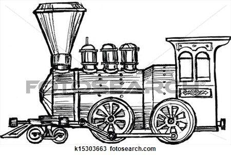 450x303 Clipart Of Vintage Steam Train K15303663