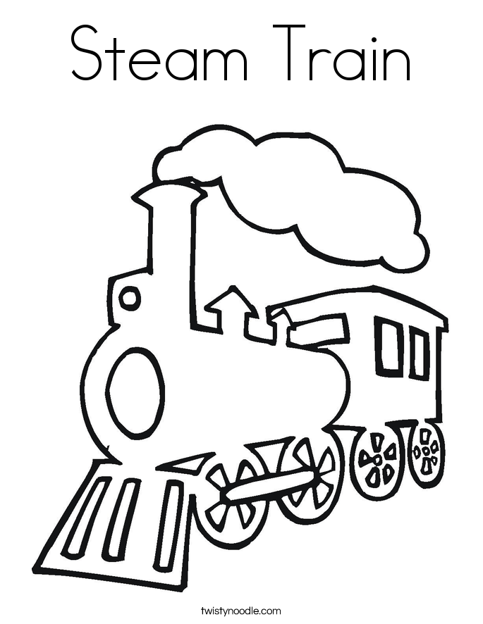 685x886 Steam Train Coloring Pages
