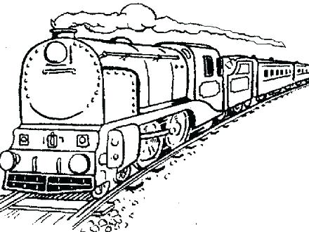 440x330 Train Engine Coloring Page Old Steam Locomotive Old Steam