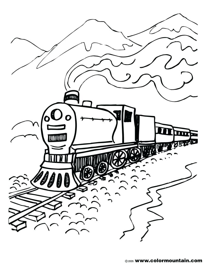 Steam Train Drawing at GetDrawings | Free download