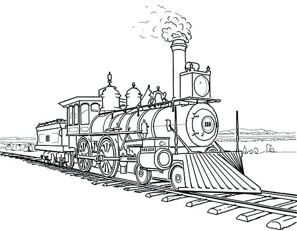 600x467 Coloring Page Train Pages Trains Together With Amazing