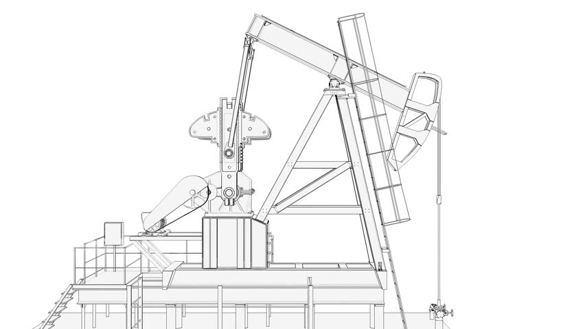 852x480 Blueprint Engineering Drawing Animation Of A Steam Engine. Loops