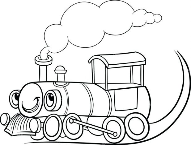 618x471 Coloring Outstanding Steam Train Coloring Pages. Steam Engine