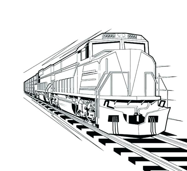 Steam Trains Drawing
