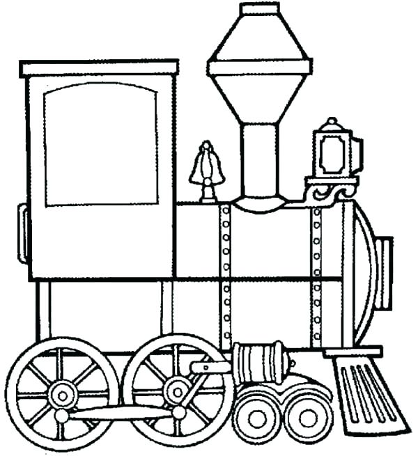 600x655 Steam Engine Coloring Pages Steam Train Coloring Page For Kids