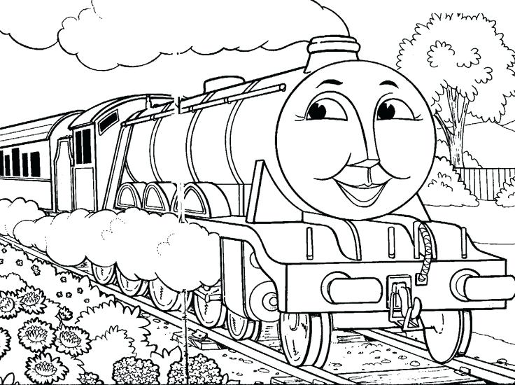 736x550 Steam Train Coloring Pages The Train Coloring Page Steam Train