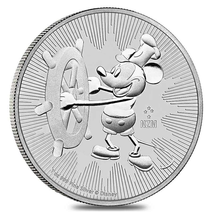 900x900 2017 1 Oz Niue Silver Disney Steamboat Willie Coin