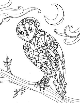 315x401 Owlkeyme Arts Coloring Books Art By Laura Tempest Zakroff