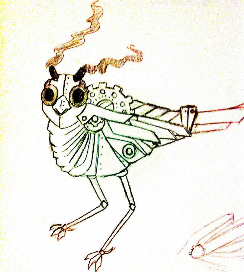 1024x1141 Steampunk Bird By Tokyo Vamp