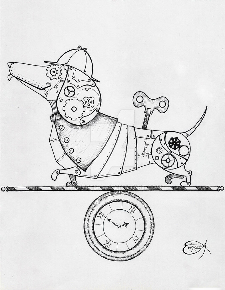 788x1014 Steampunk Dog Drawing Steampunk Drawing Sketches