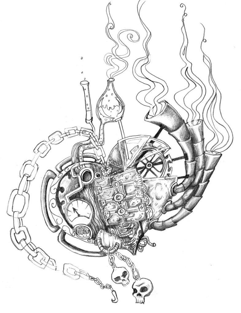 785x1018 Steampunk Heart By Anatane
