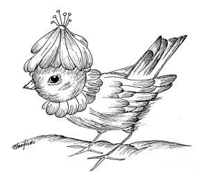300x254 Baby Bird Drawings