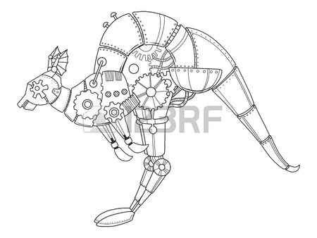 450x338 1,069 Steampunk Animal Stock Vector Illustration And Royalty Free