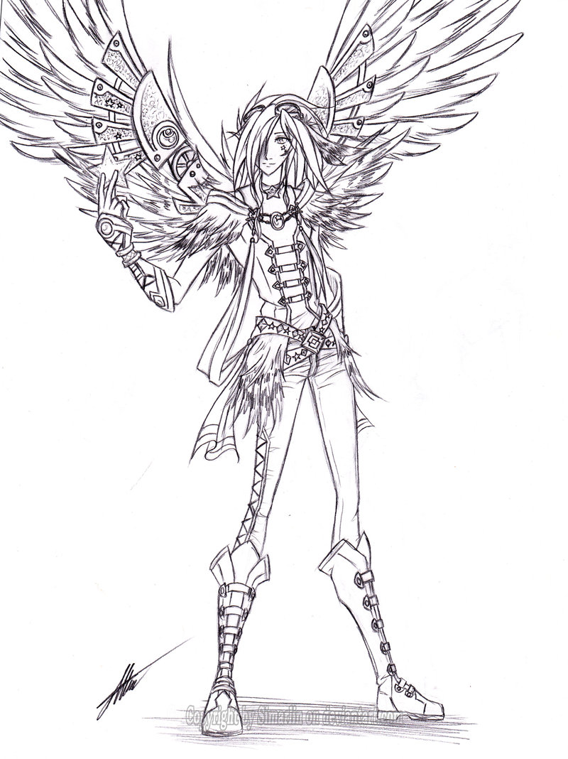 800x1068 Steampunk Angel By Simarlin