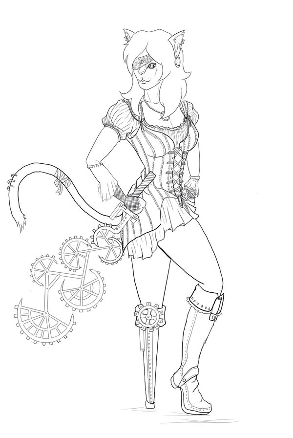 600x896 Steampunk Cat Pirate By Ketchupgoddess