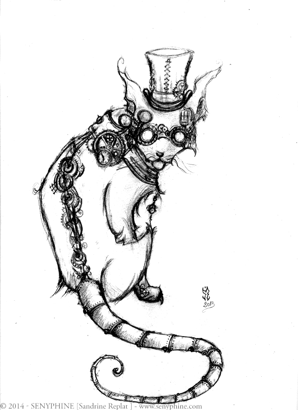600x826 Steampunk Cat