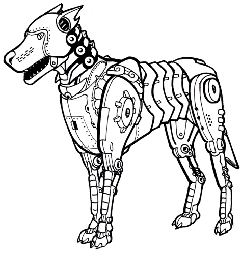 475x500 Steampunk Dog Ink Final By Legato895 On Cat Robot
