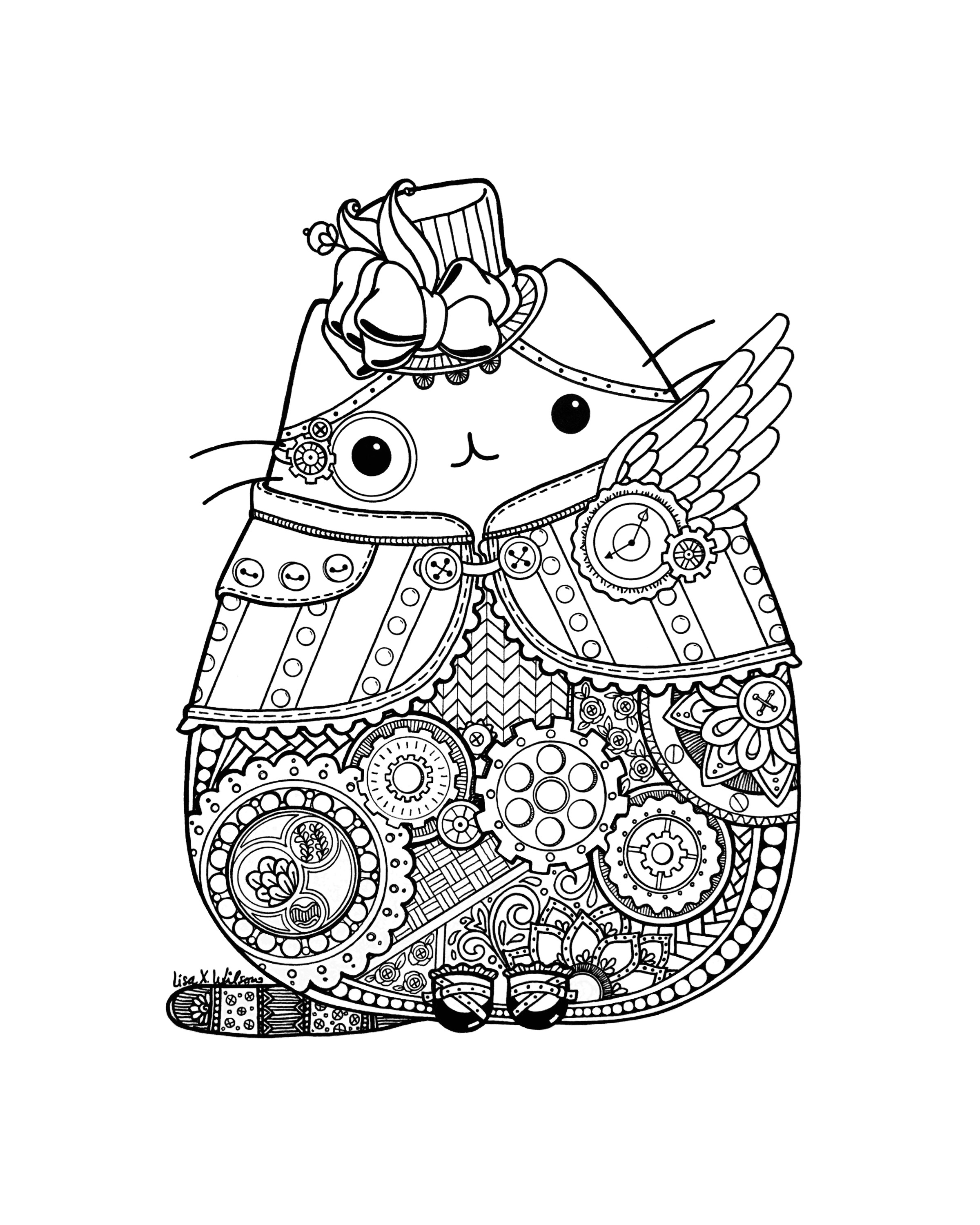 2400x3000 Steampunk Pusheen Fan Art Pusheen! Pusheen, Fan
