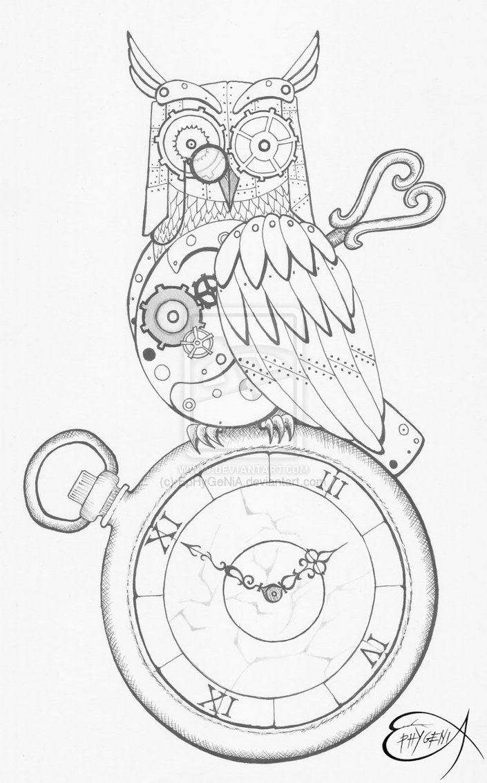 705x1133 Steampunk Drawing Class Time Steampunk Drawing