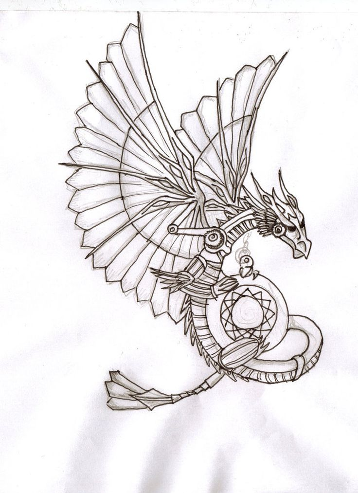 736x1013 Steampunk Pattern Coloring Page