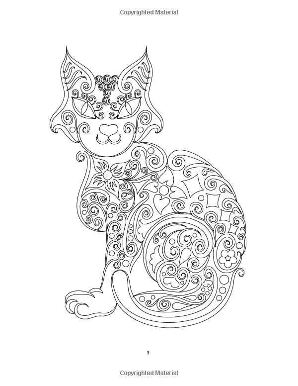 600x776 Icolor Cats Icolor Cats Adult Coloring